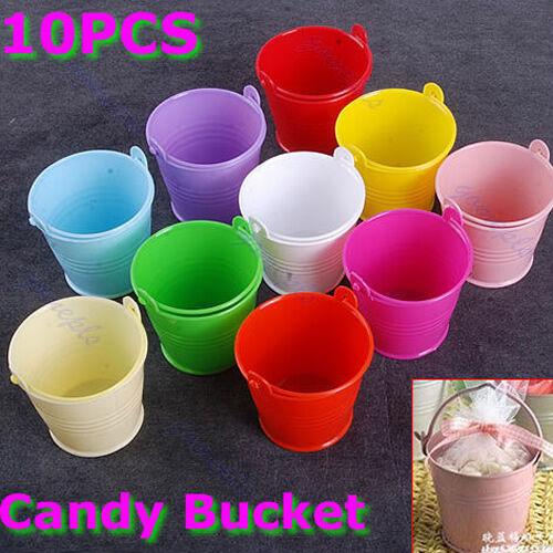 10 pcs Mini Cute Chocolate Candy Bucket Wedding Party Favors Kisses DIY Keg