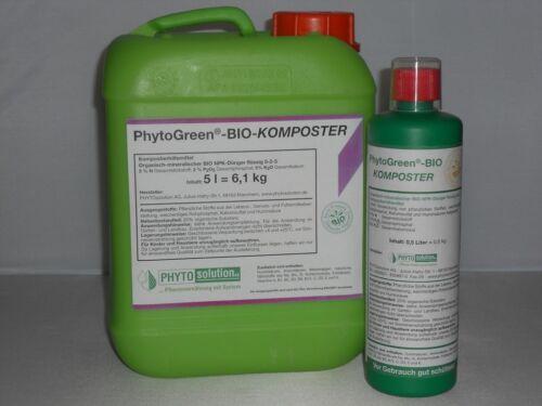 5 l Kanister PHYTOGreen BIO KOMPOSTER Kompostierungsbeschleuniger