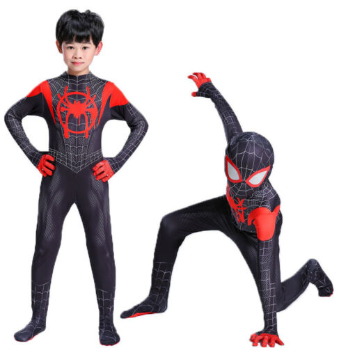 Boys Kids Adult Spiderman Superhero Costume Cosplay Fancy Dress Outfits Set Suit
