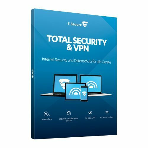 F-Secure Total Security und VPN - 3 Geräte - 1 Jahr - Vollversion, ESD, Download