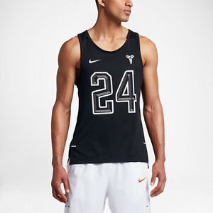 573018d487363b NIKE KOBE  24 Hyper Elite Mesh Tank Top Basketball Shirt -Black ...
