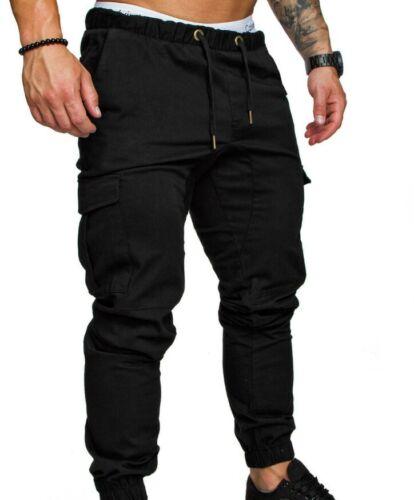 Men/'s Slim Fit Straight Leg Trousers Casual Pencil Jogger Cargo Pants Sweatpants
