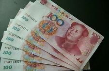 5 x 2005 CHINA CHINESE YUAN RMB CNY 100 BILL BANKNOTE NOTE UNC MAO CURRENCY P907