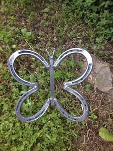 Image Is Loading Horseshoe Butterfly Garden Decor Horseshoe Art Yard Art