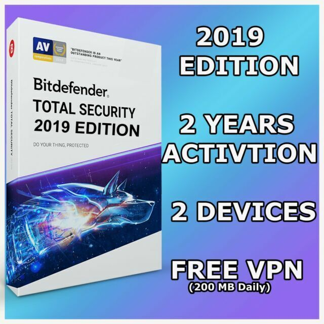 1 year MAC Bitdefender Total Security MultiDevice 2019 5 PC Windows /& Android