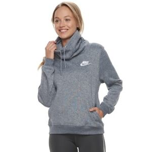 6cf75298300 NIKE SPORTSWEAR FUNNEL NECK TOP THUNDER BLUE 893307-471 WOMEN S SIZE ...