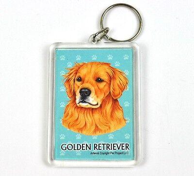 Süßer Hunde Usa Schlüsselanhänger - Golden Retriever Starker Widerstand Gegen Hitze Und Starkes Tragen