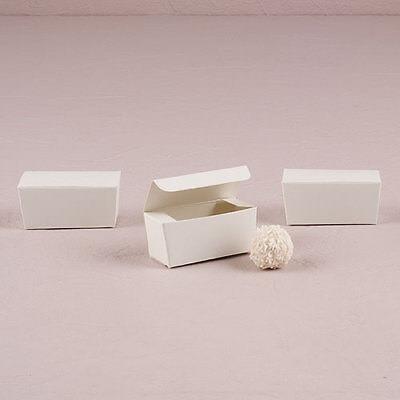 White Wedding Favor Boxes DIY Wedding Truffle Box Set of 40 Weddingstar