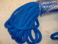 3/8x50 Feet Double Braid Nylon Blue Rope Anchor Dock Hoist Winch Lift