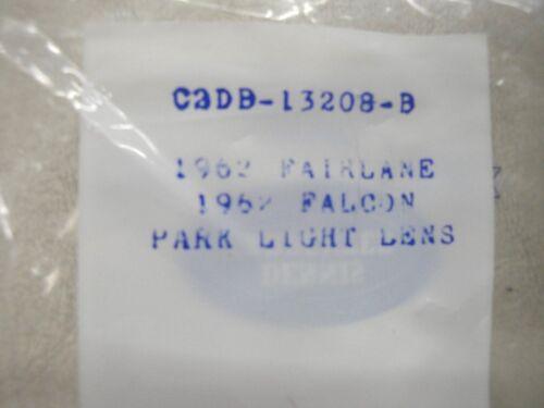 62 63 1962 1963 FORD FAIRLANE CLEAR  PARK LIGHT LENSE PAIR NEW