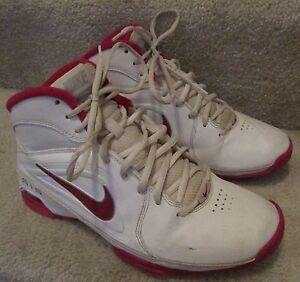 Visi Air Shoes Iii Womens Nike White Basketball 8 Pro Red 525747 Sz 45SdWwq