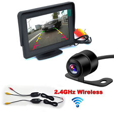 "4.3"" TFT LCD Monitor + Wireless Car Rear View System Backup Camera Night Vision"