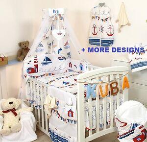 Marine Baby Bedding Set Cot Bed Cot Quilt Duvet Pillow