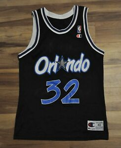 cheap for discount 9819d 34908 Details about SHAQUILLE O'NEAL SHAQ ORLANDO MAGIC CHAMPION JERSEY BLACK  40/MEDIUM