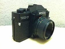 VINTAGE WESTON WX7 WX-7 FILM CAMERA w/50mm Lense ~ In Excellent Condition!