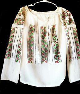 "Romanian Blouse Folk.  Size : bust 46"" around"