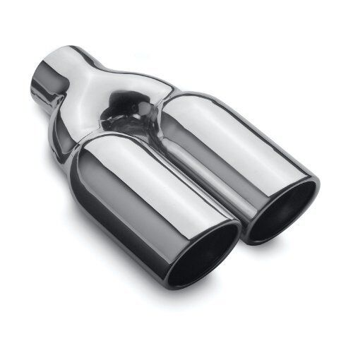 MagnaFlow 35168 Dual Angle Cut Double Wall Rolled Tips Stainless Steel Exhaust