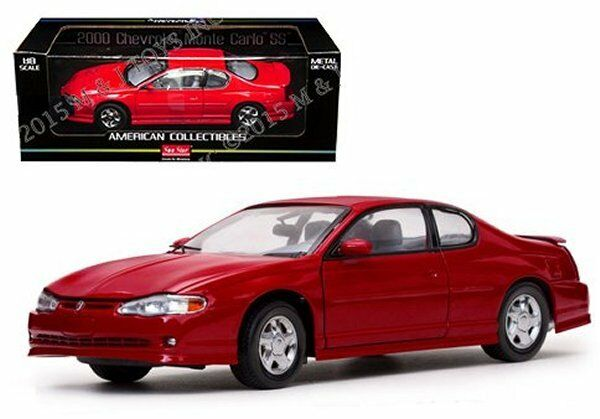 Sun Star 1 18 American Collectibles 2000 CHEVY MONTE CARLO SS Diecast Car rosso
