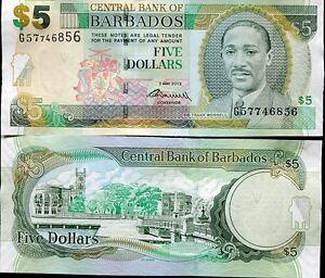 BARBADOS-5-DOLLARS-2012-2013-P-67-UNC