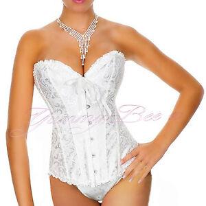 cdefa58b6 Wedding Corset Ivory White Plus Size 6 24 Bridal Basque Sexy