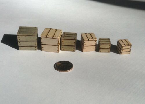 3 sizes Crates for Street Fighter The Miniatures Board Game Upgrade 6 Crates