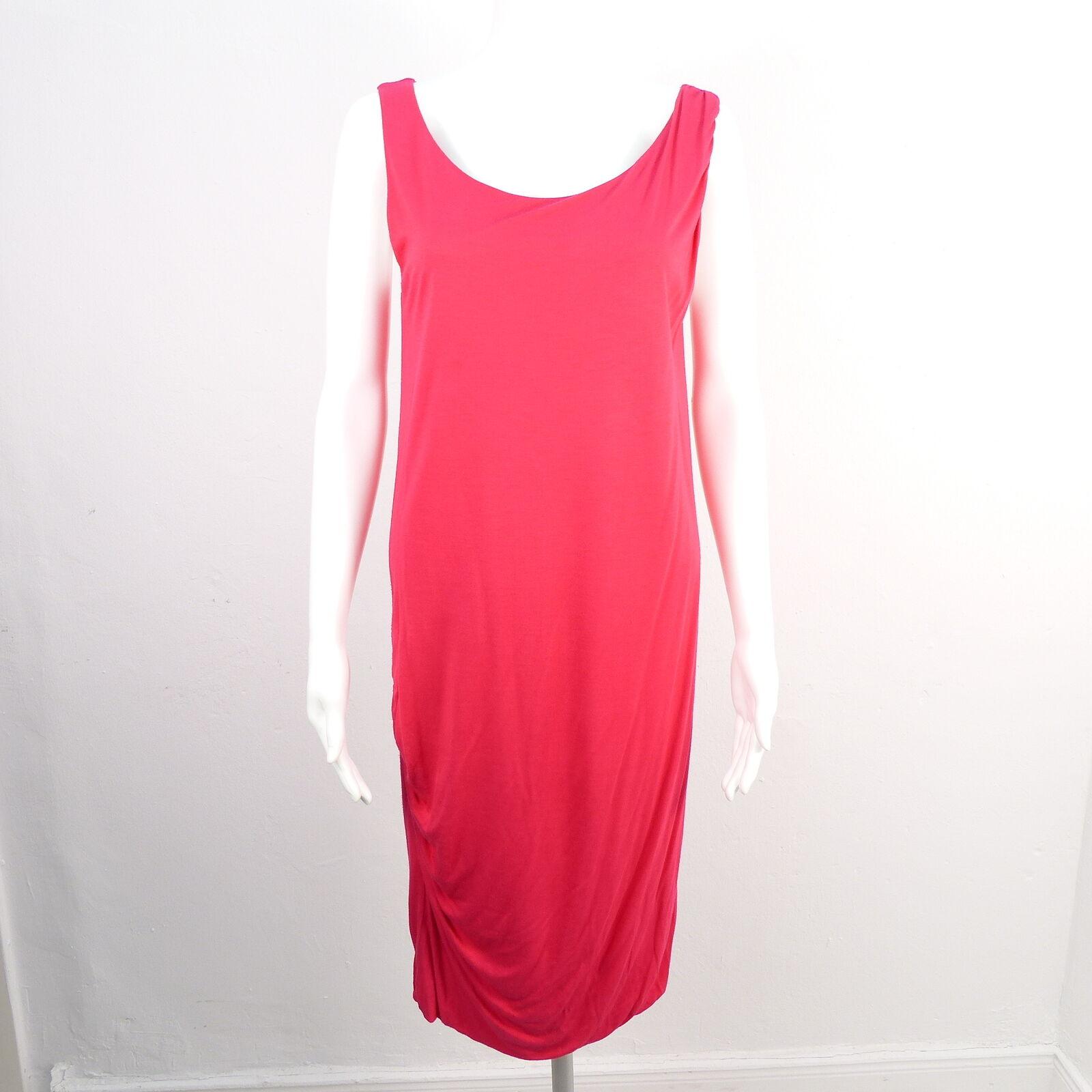 MARC CAIN Kleid Gr. DE 38 N3 Rosa Damen Etuikleid Stretch Seidenanteil Ärmellos