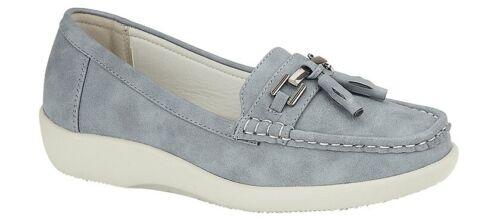 Blue or Beige Size 3 4 5 6 7 8 Ladies Tassle Loafer Light Slip On Summer Shoes