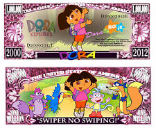 Dora the Explorer Million Dollar Bill Collectible Fake Funny Money Novelty Note