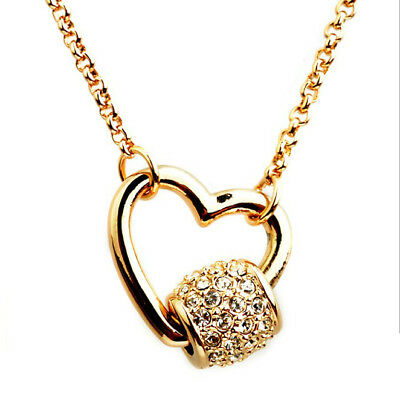 Ehrlich Asamo Damen Halskette Mit Herz Und Ring Anhänger Vergoldet Herzkette Zh1032