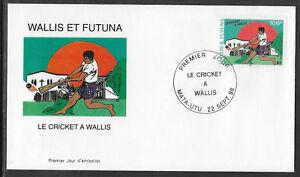 WALLIS & FUTUNA 1998 CRICKET 1v FDC