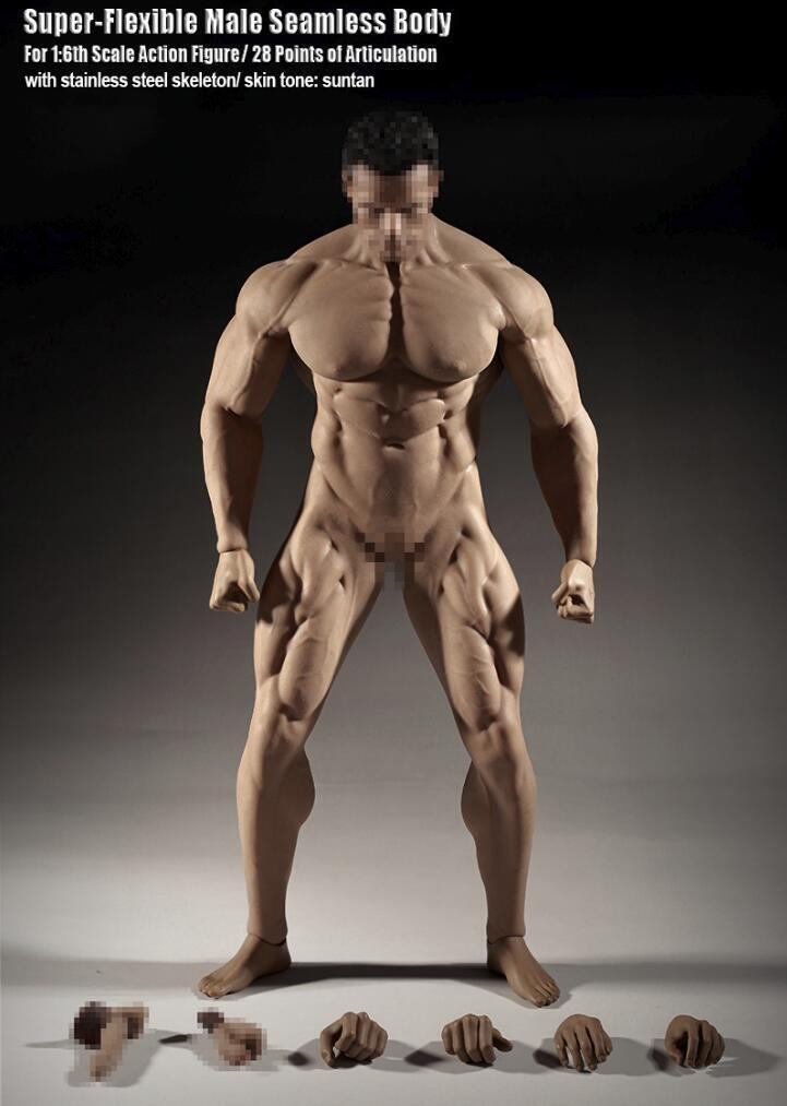 Nuevo Tbleague Phicen M35 1 6 escala cuerpo muscular masculino sin costuras Super sin cabeza