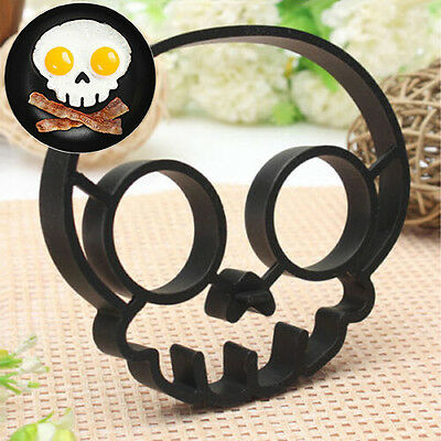 Ideal Silicone Skull Owl Egg Fried Mould Shaper Ring Kitchen Cooking Helper Hot