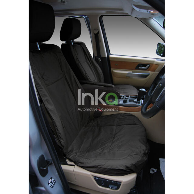 Jaguar F Pace Front Set Inka Tailored Waterproof Seat Covers in Grey