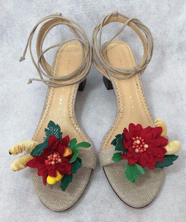 promozioni eccitanti Charlotte Olympia Olympia Olympia donna scarpe Dimensione 37.5 New Flower  risparmia il 35% - 70% di sconto