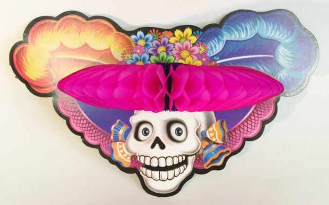 Buy CATRINA Con Sombrero Awesome Day of The Dead Decoration online ... db8fd569bc1