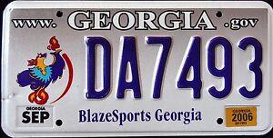 GEORGIA-034-BLAZESPORTS-OLYMPIC-EAGLE-034-GA-Specialty-License-Plate