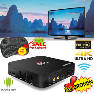 V88 RK3229 4K Lot Smart Android 5.1 TV Box 8G Quad Core Media Player+Keyboard
