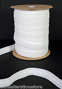 Rufflette 25mm 1 Inch White Curtain Heading Header Tape 10