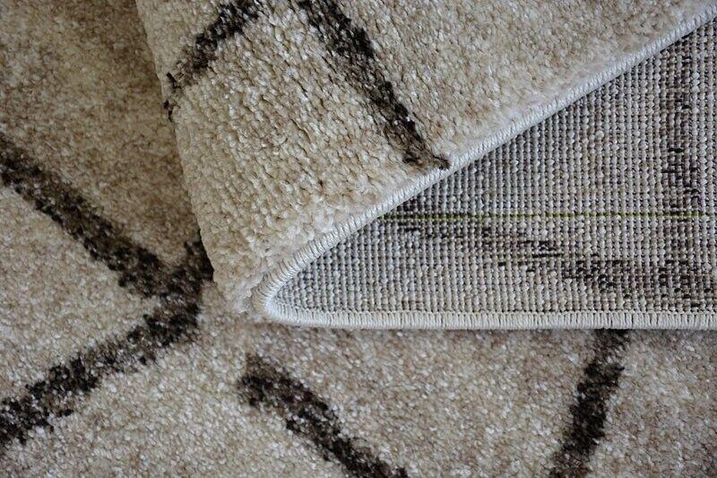 Épais Qualité 20mm Design Moderne Densément Doux Tapis Tapis Tapis Shadow Triangles Beige | Offre Spéciale  7d65b3