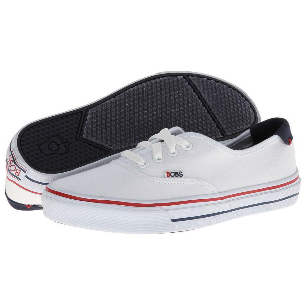 BOBS FROM SKECHERS MS SIZE 6 1/2 WHITE THE UomoACE DOUBLE TIME CANVAS Scarpe