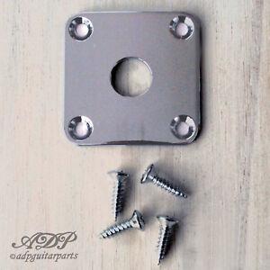 Plaque Input Gotoh Jack Plate style LP Gibson Epiphone Les Paul SG Chrome JLP0C