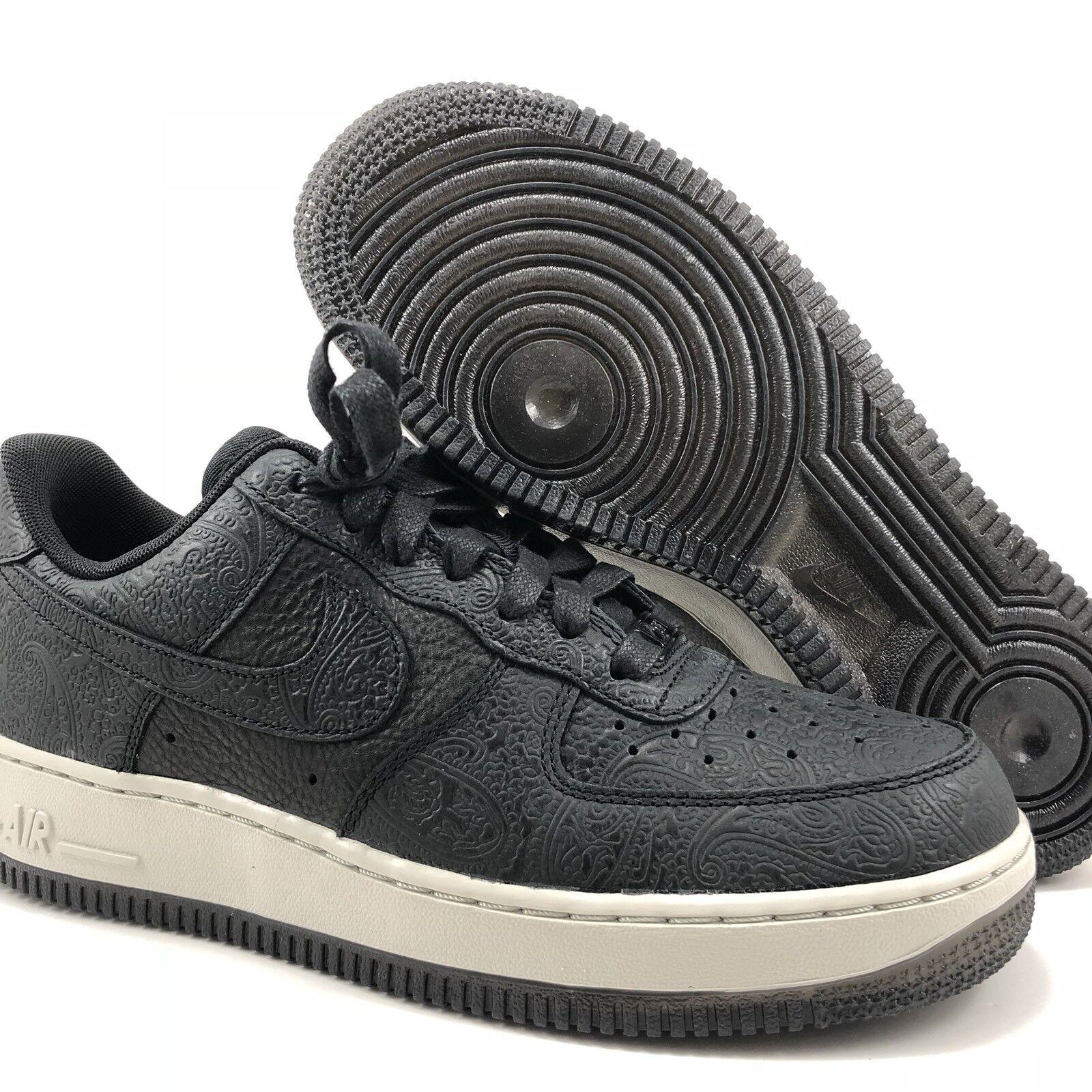 Nike Air Force 1 '07 PRM Essential Black Womens Size 8.5 (860532 001)