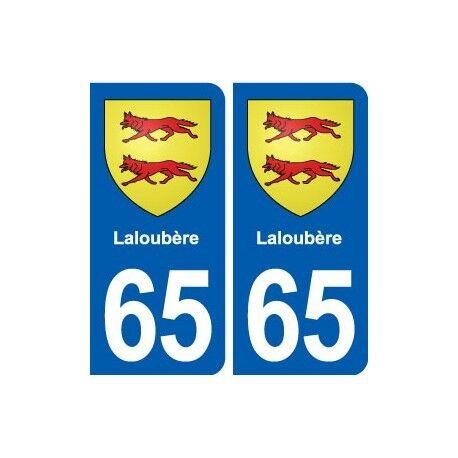 65 Laloubère blason autocollant plaque stickers ville arrondis