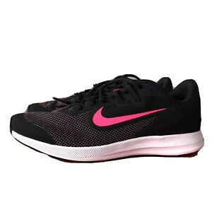 Nike-Downshifter-9-GS-Black-Pink-White-Girl-039-s-Shoes-Size-7Y-Model-AR4135-003