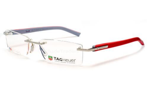 Tag Heuer tendances Sans Monture optique lunettes cadre argent rouge gris TH 8109 015