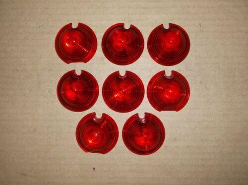 8 NOS Vintage Red Marker Light Lenses for Dixie and Harleys Indian