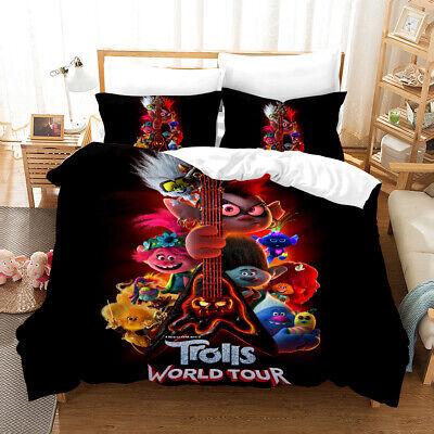 3d Trolls World Tour Bedding Set Duvet, Trolls Queen Bedding