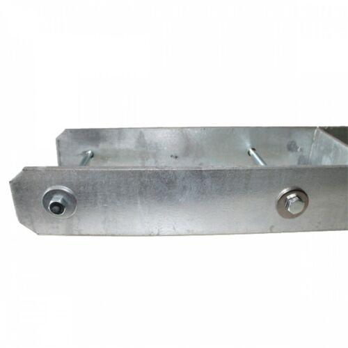 H-Pfostenträger 116 x 800 x 8,0mm mit Schrauben