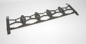 Vecchio-Metallo-Bordo-Chiave-Ganci-Guardaroba-Vintage-Loft-Design-Industriale