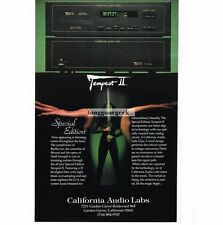 1989 California Audio Labs Tempest II CD Player Hi-Fi Stereo Vtg Print Ad